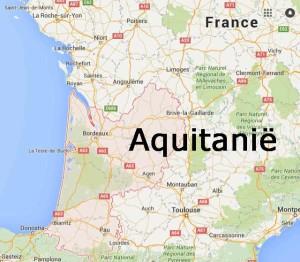 Kaart Aquitanië Frankrijk