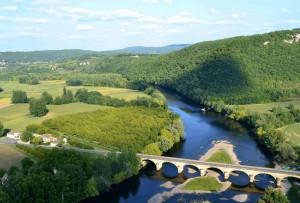 Rivier in de Dordogne